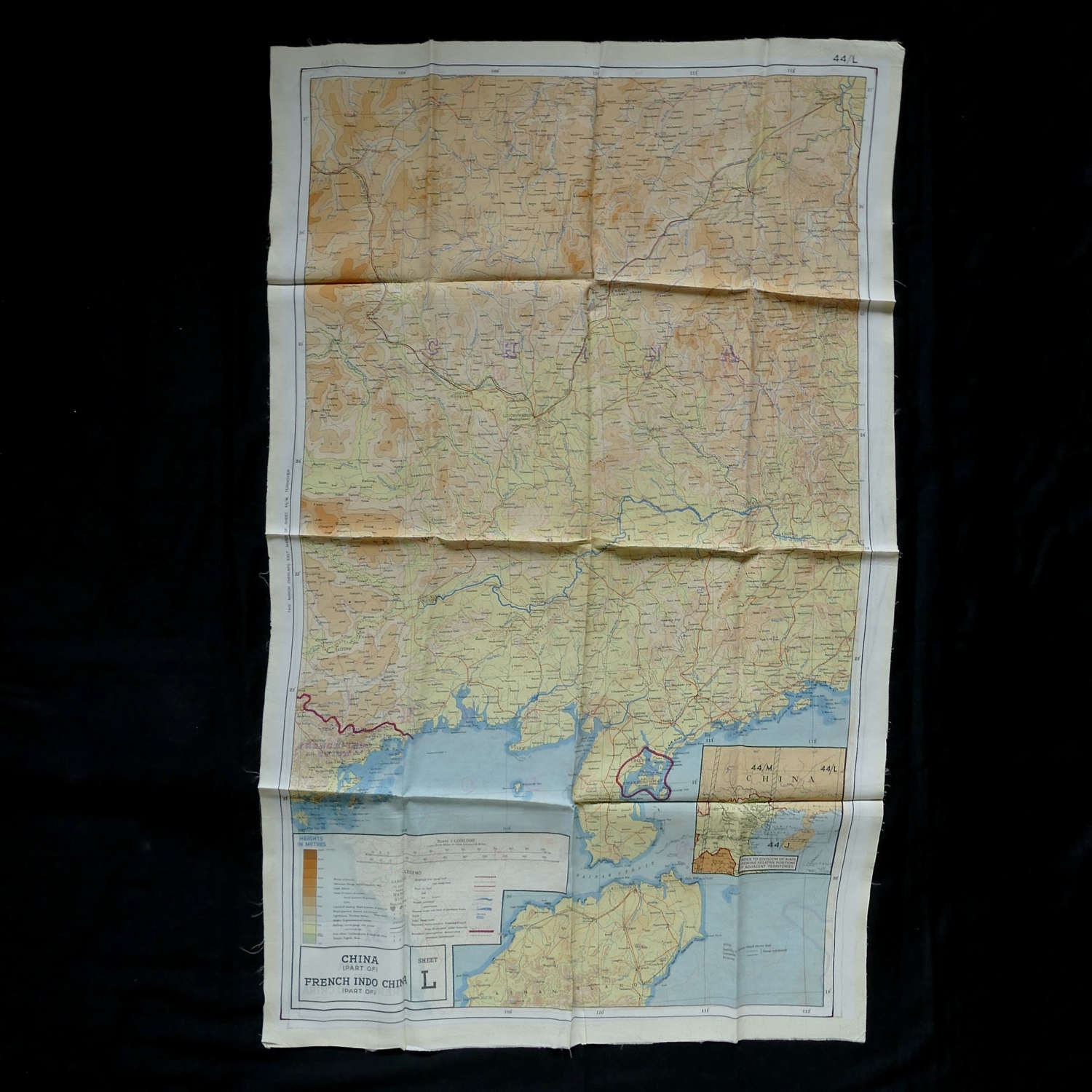 RAF escape & evasion map, 44L/M