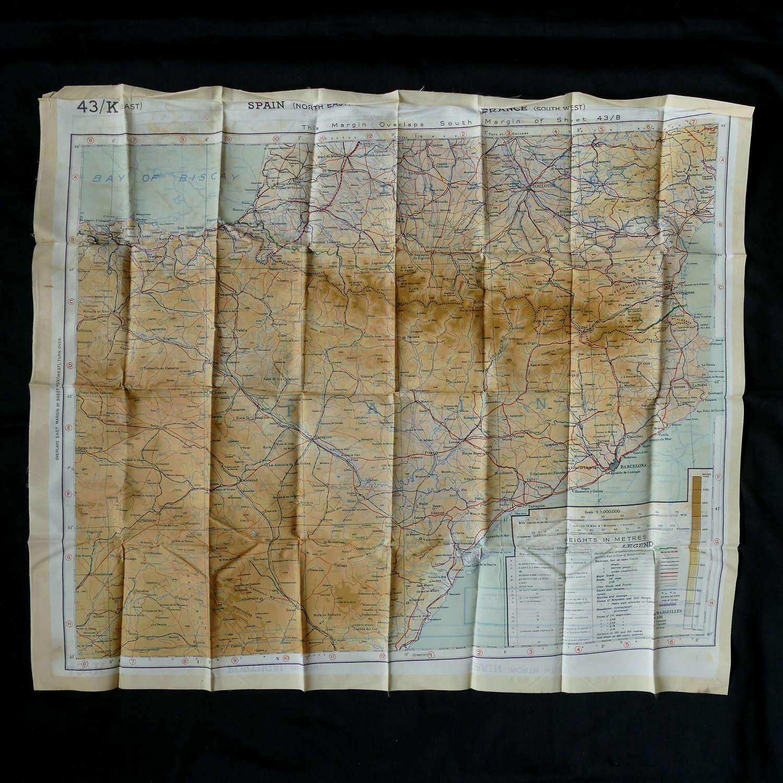 RAF escape & evasion map, European sheet 43K