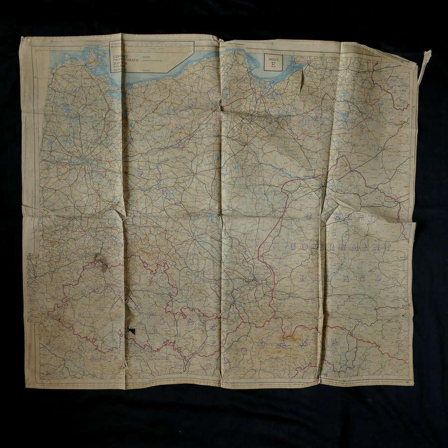 RAF escape & evasion map, European 43E/F