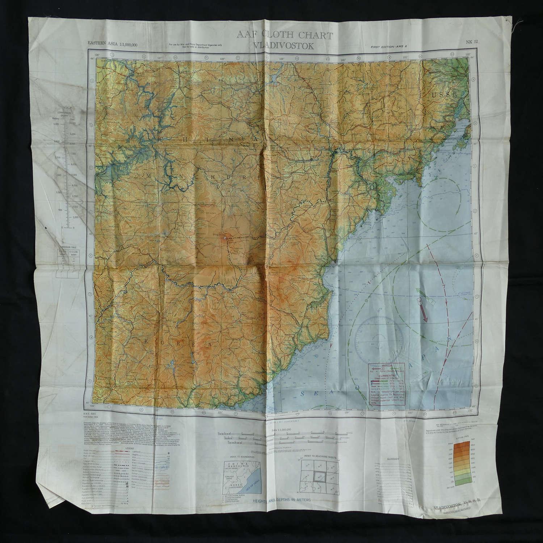 USAAF escape & evasion map