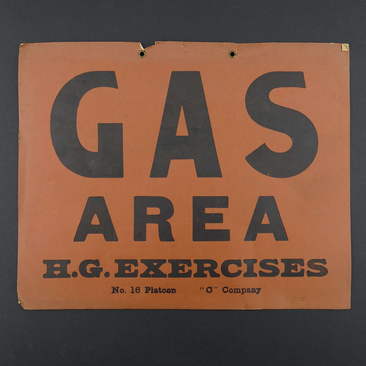 Home Guard gas notice