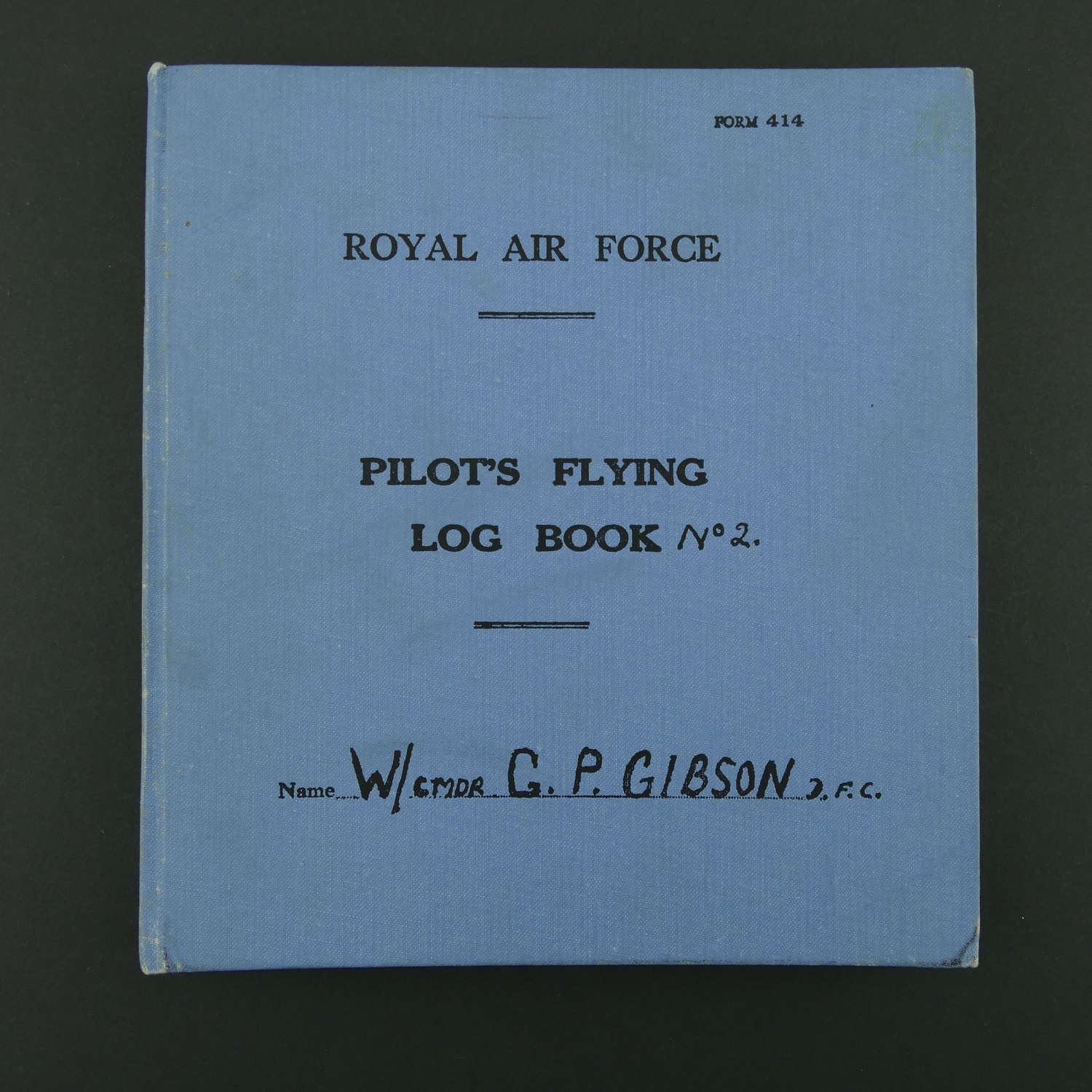 Wing Commander Guy Gibson, log book No.2