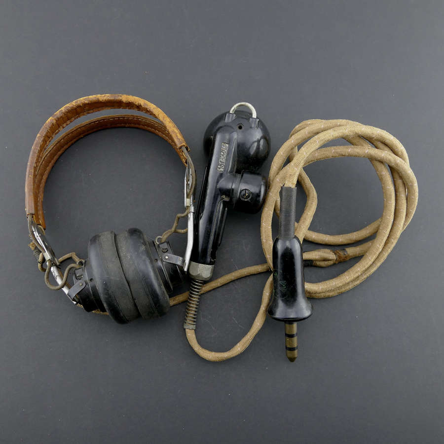 USAAF / RAF 'used' HS-33 headset with T-17 microphone