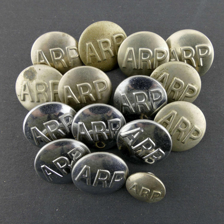 Air Raid Precautions buttons