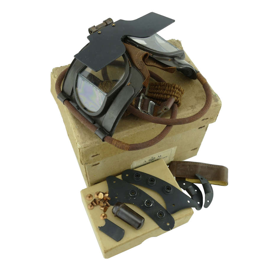 RAF Mk.IVB flying goggles & spares, boxed