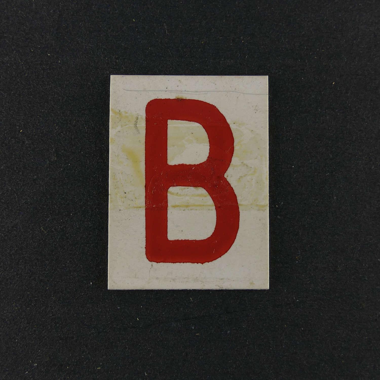 RAF operations room raid block tile,  'B'