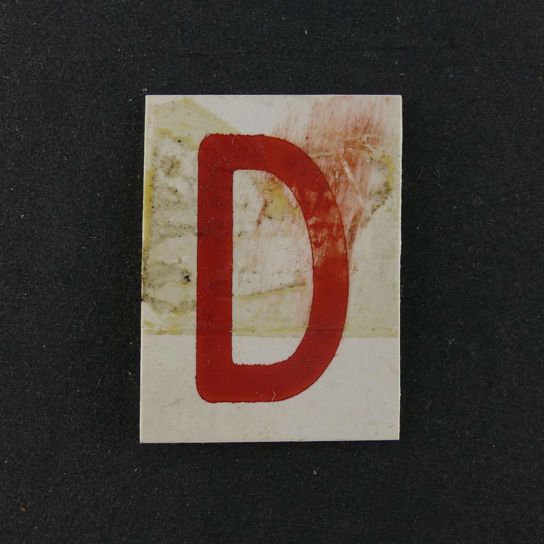 RAF operations room raid block tile, 'D'