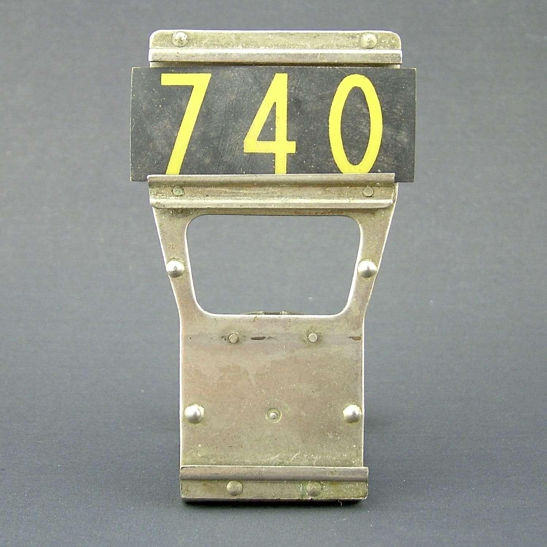 RAF operations room raid block tile, '740'