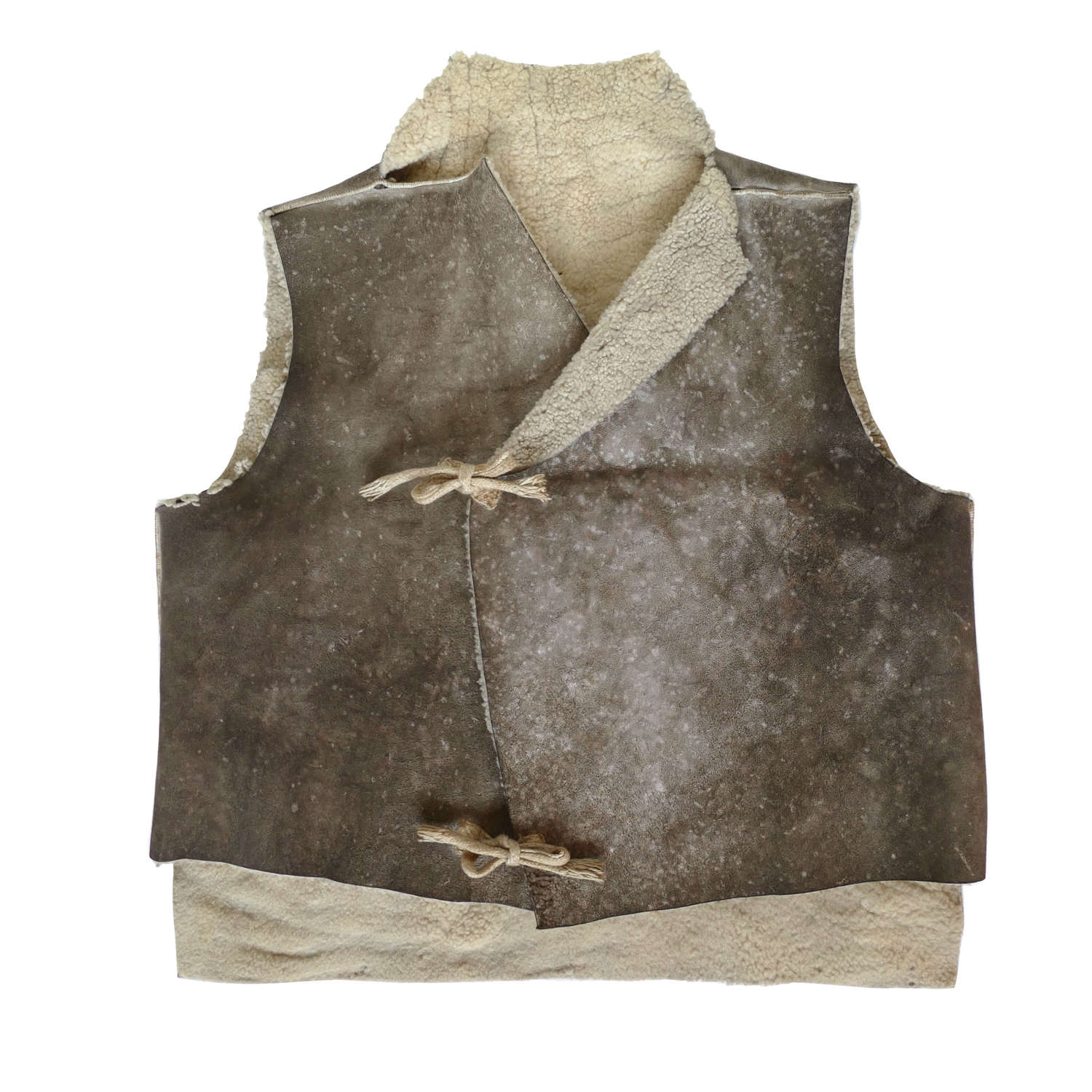 RAAF shearling waistcoat with artwork, history