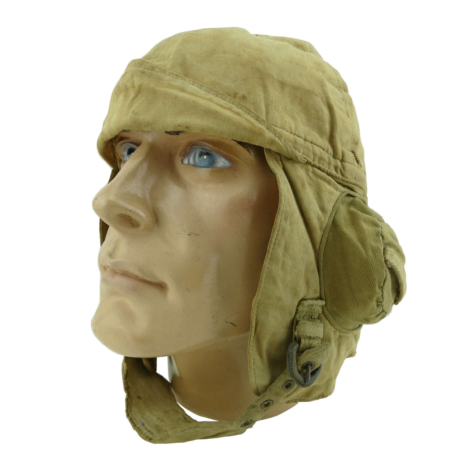 Early cloth flying helmet