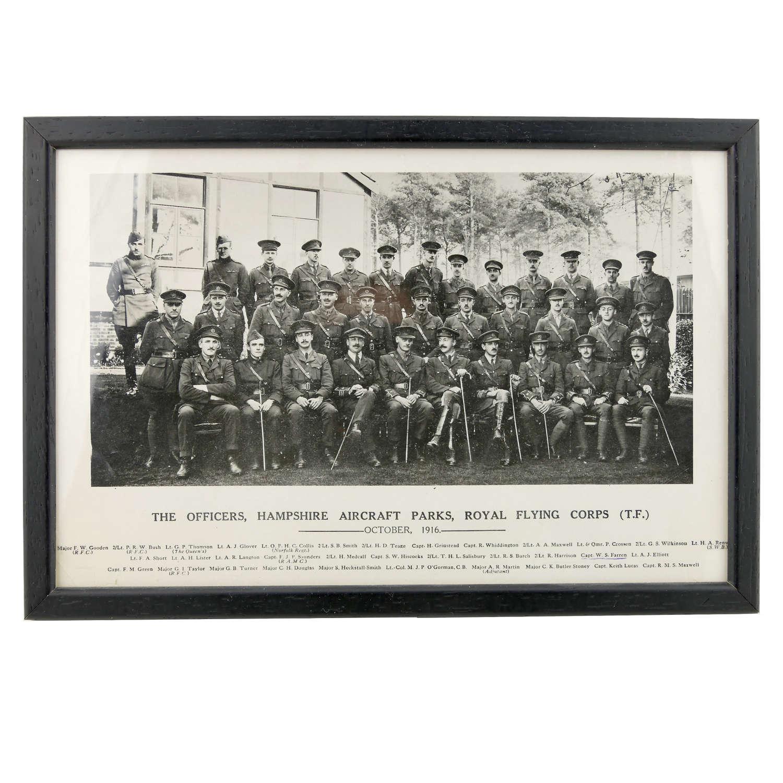 R.F.C. photograph c.1916