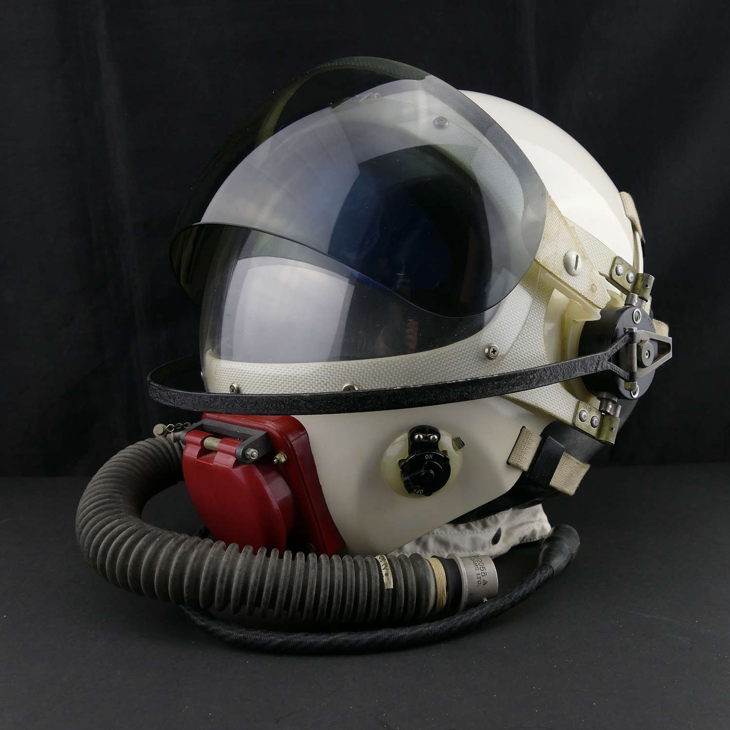 RAF partial pressure flying helmet, Type E, cased