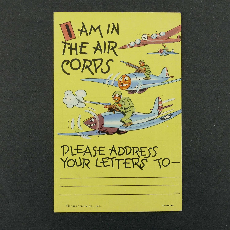 Army Air Corps postcard