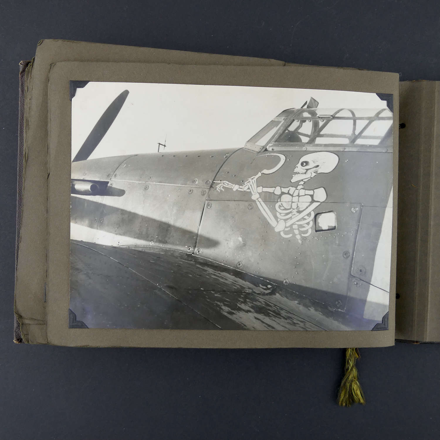 RAF photograph album with 242 Squadron related aircraft content