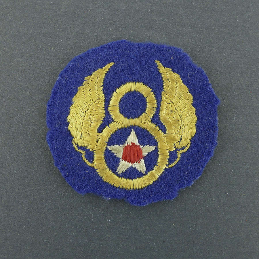 USAAF 8th AF shoulder patch - English made