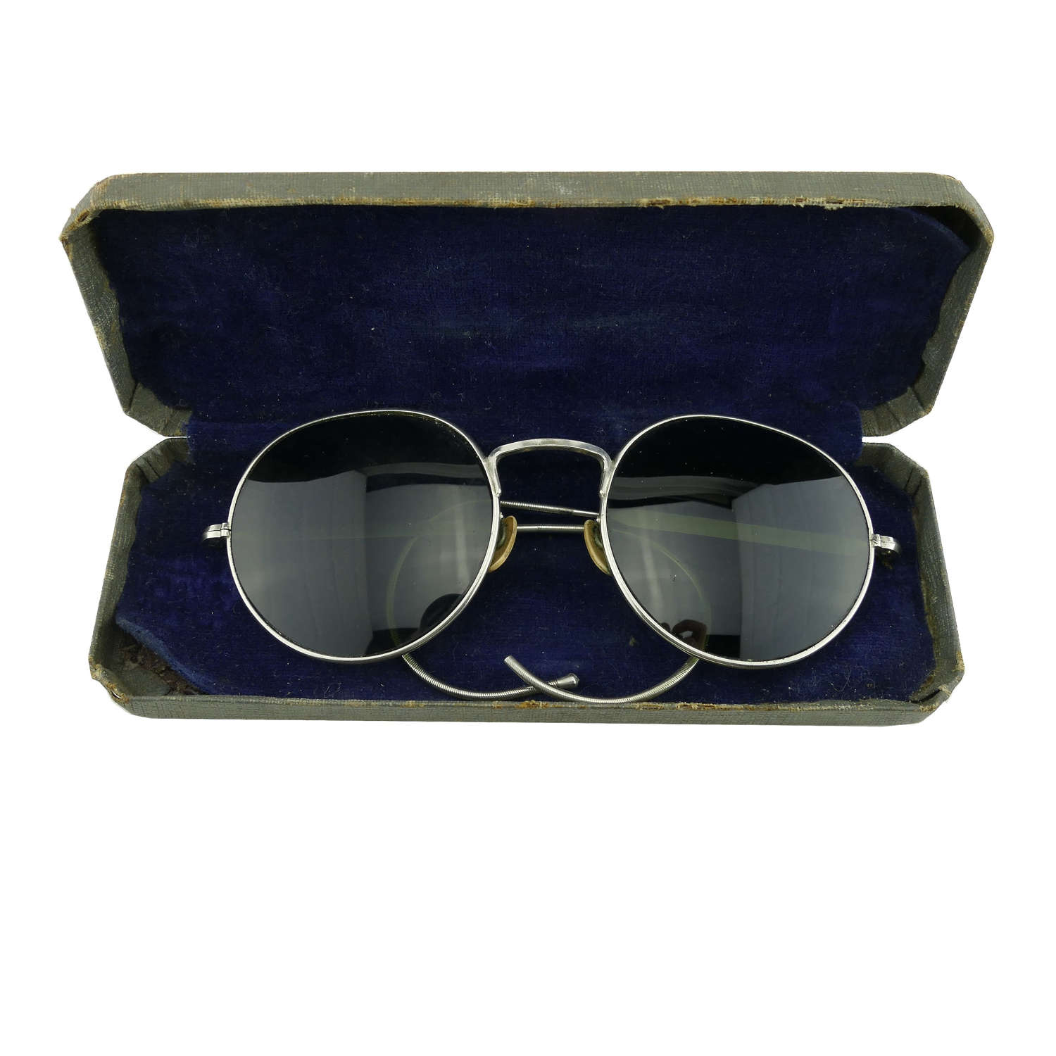 RAF MK.VIII flying spectacles, cased, history