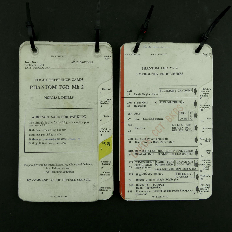 RAF flight reference cards - Phantom FGR Mk.2