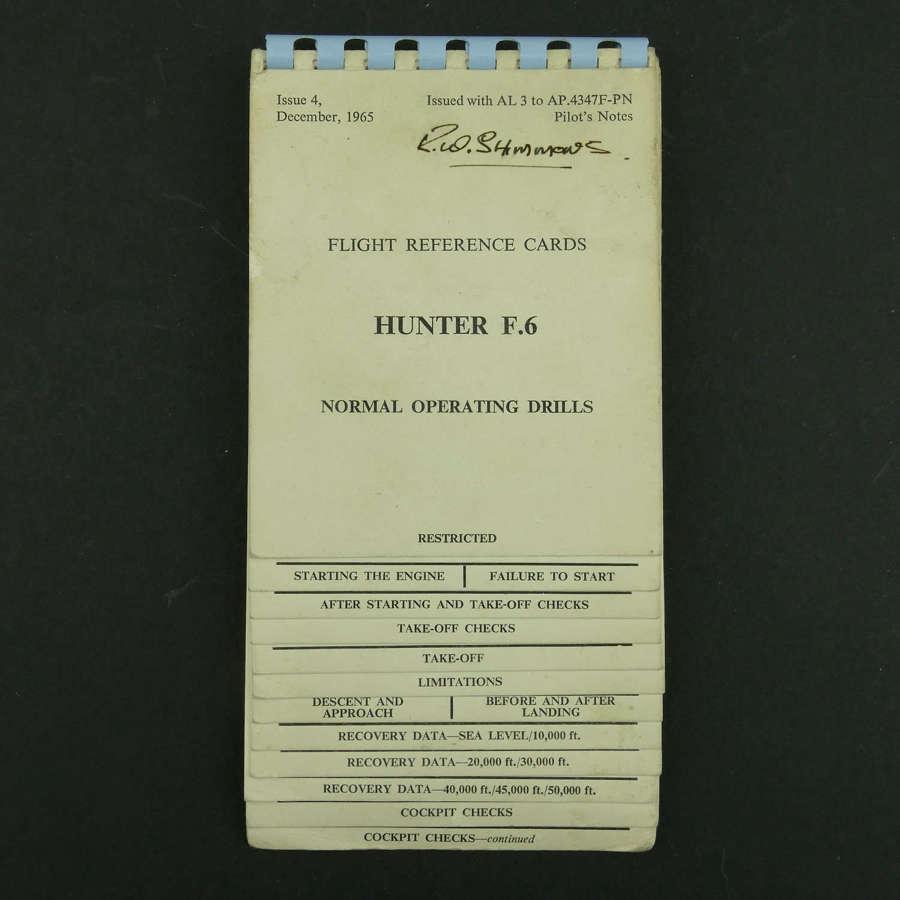RAF flight reference cards - Hunter F.6