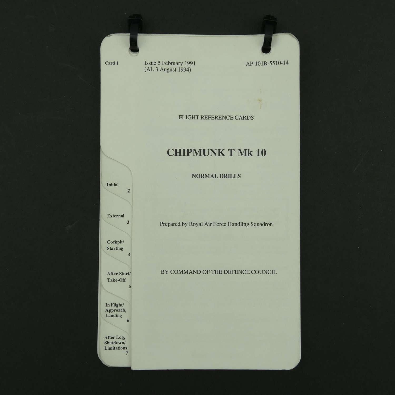 RAF flight reference cards - Chipmunk T MK.10