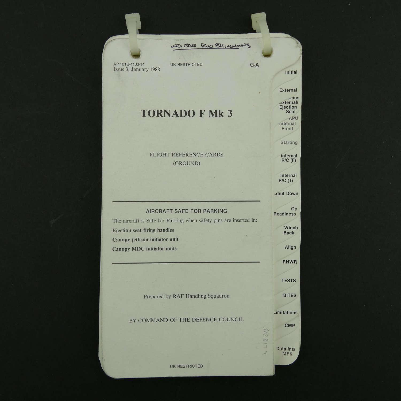 RAF flight reference cards - Tornado F MK.3, Ground