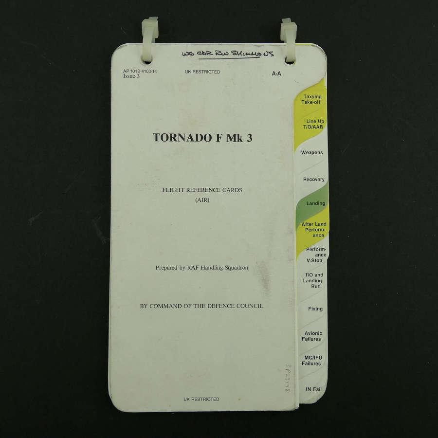 RAF flight reference cards, Tornado F Mk.3, Air