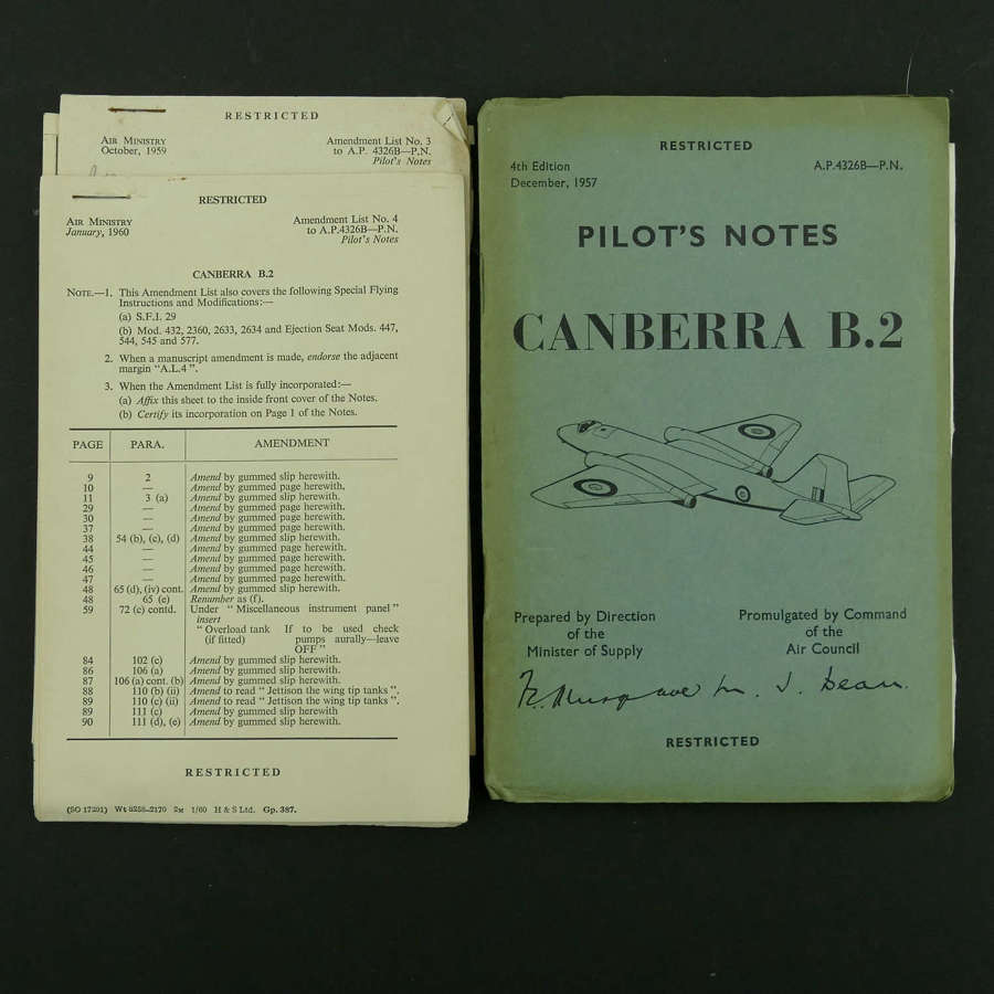RAF Pilot's Notes, Canberra B.2