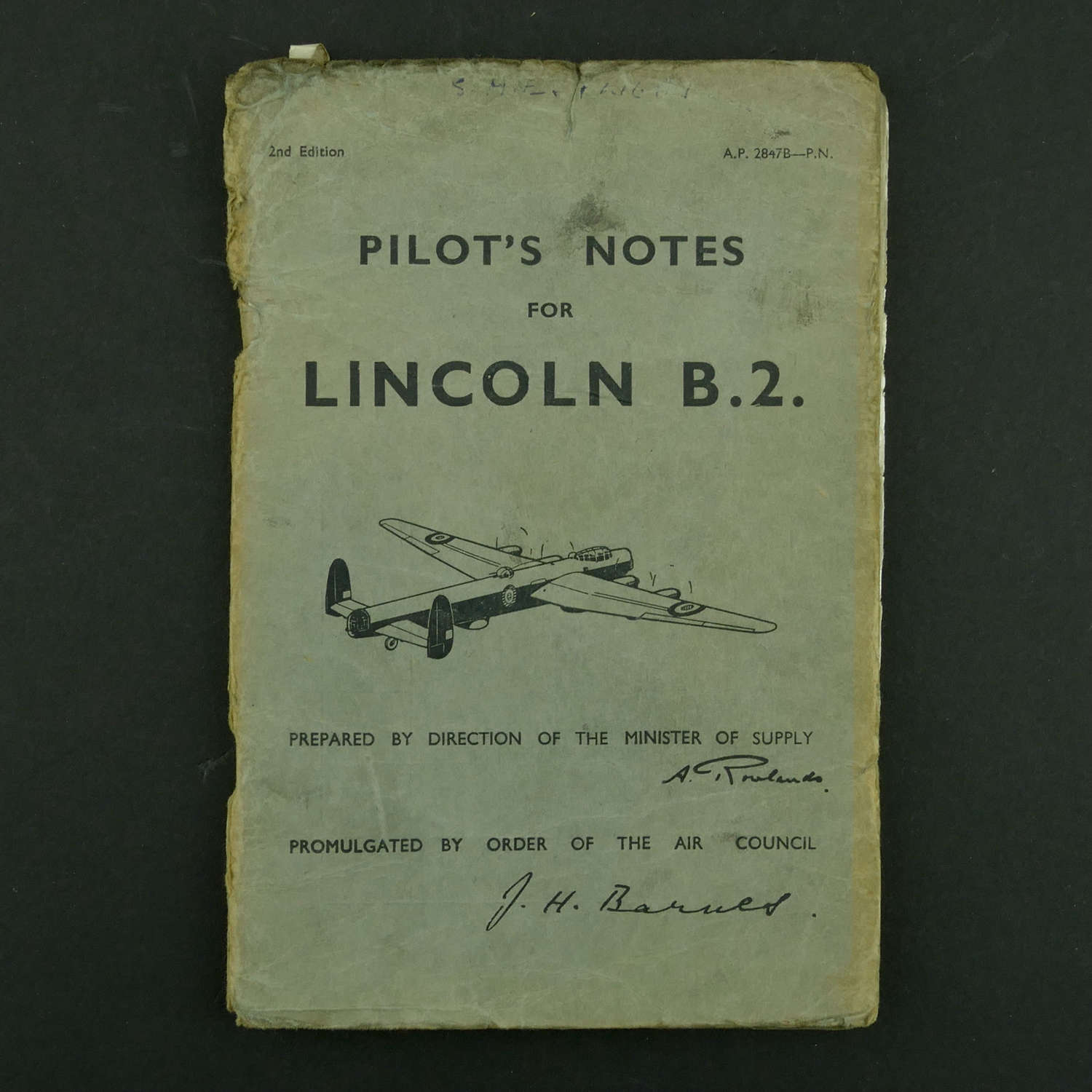 RAF Pilot's Notes, Lincoln B.2