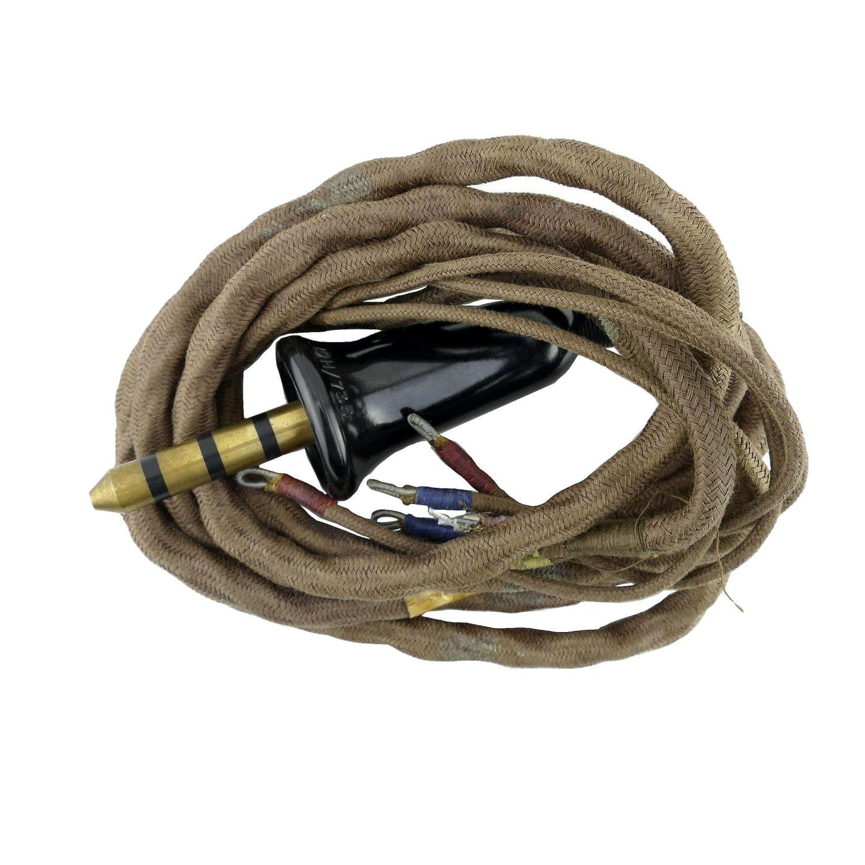 RAF flying helmet wiring loom