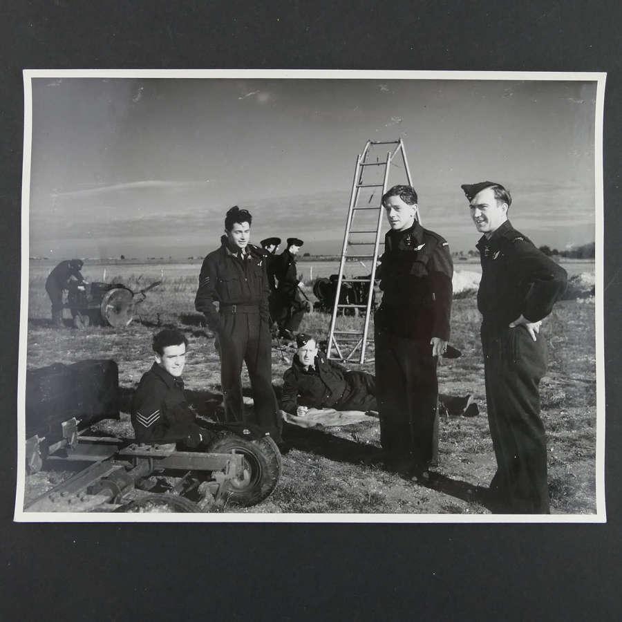 Original press photograph from WW2 propaganda film