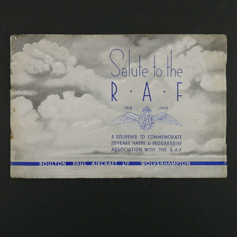 Salute to the RAF - Boulton Paul Aircraft souvenir booklet, 1943