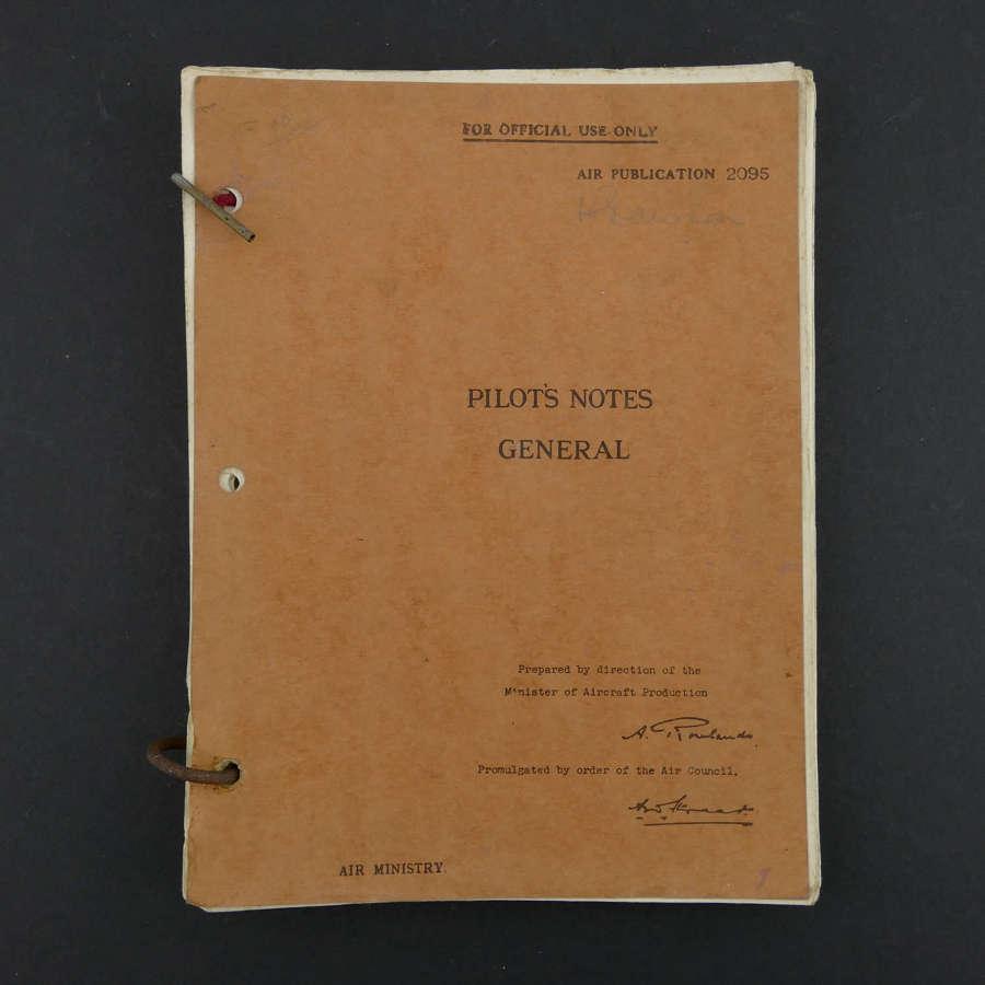 Air Publication - Pilot's Notes General, 1942