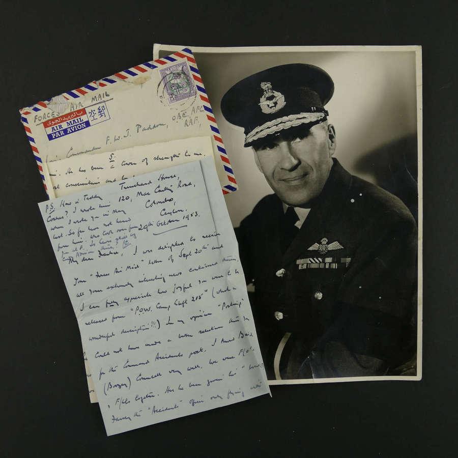 Photograph, Air Commodore J Cox CB, OBE, DFC