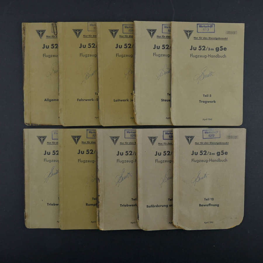 Luftwaffe Ju52 flying handbooks - set