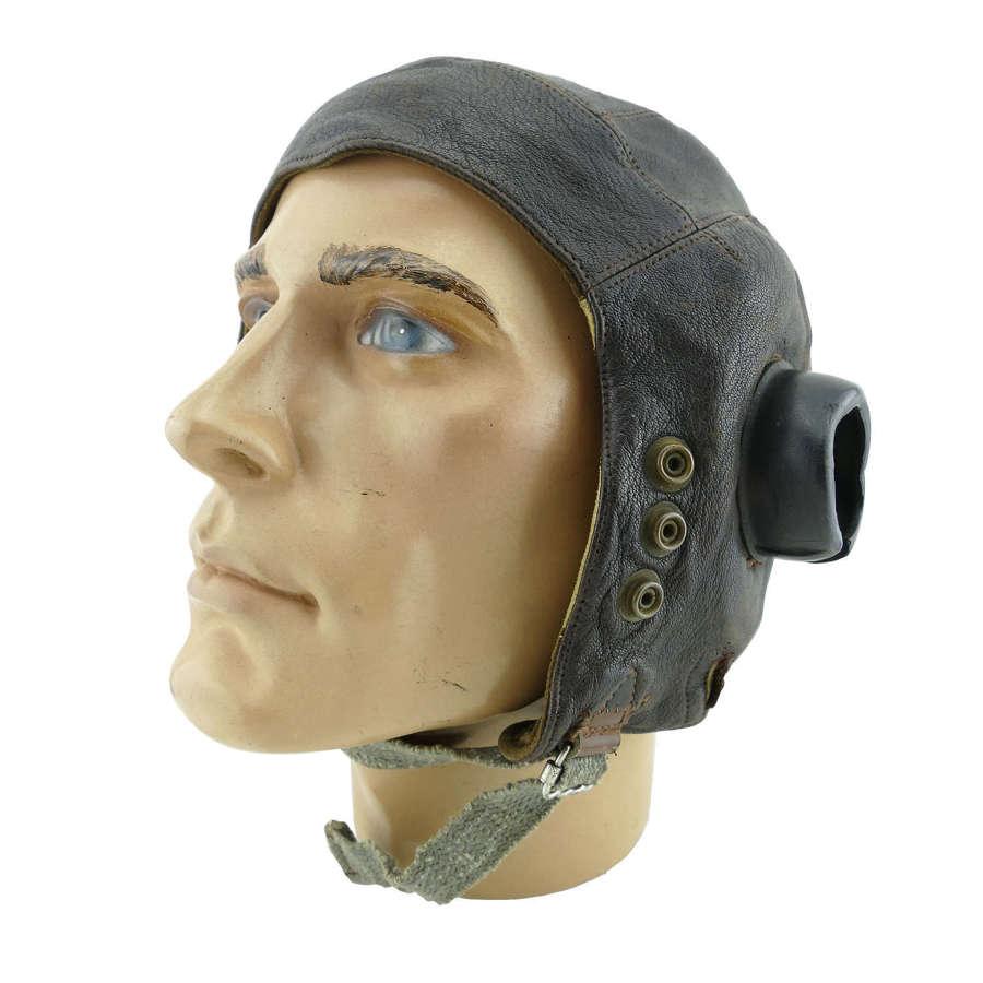 RAF C-type flying helmet, 1st pattern internally wired