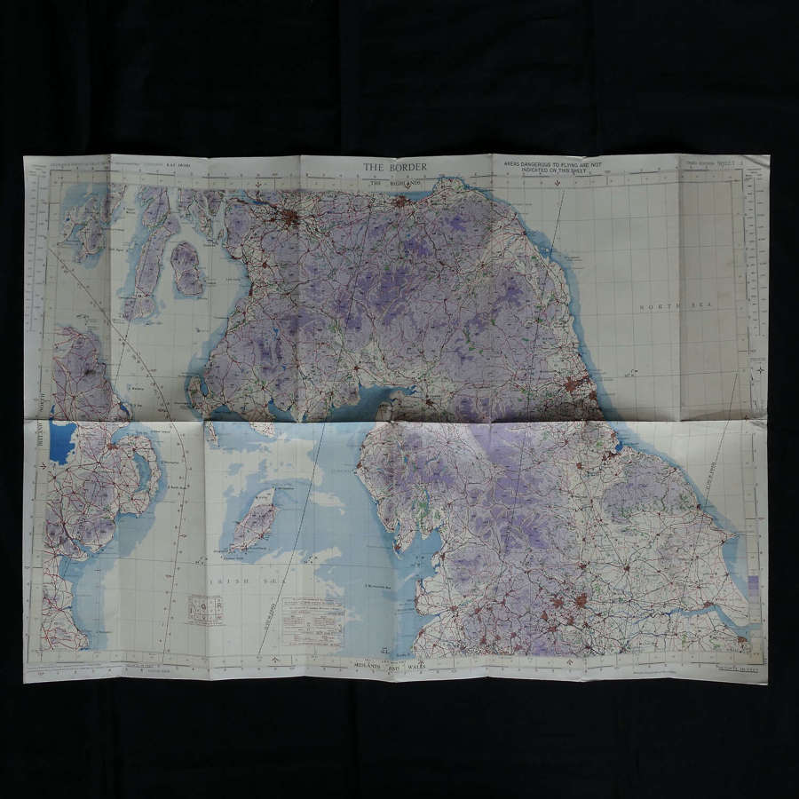 RAF flight map, The Border