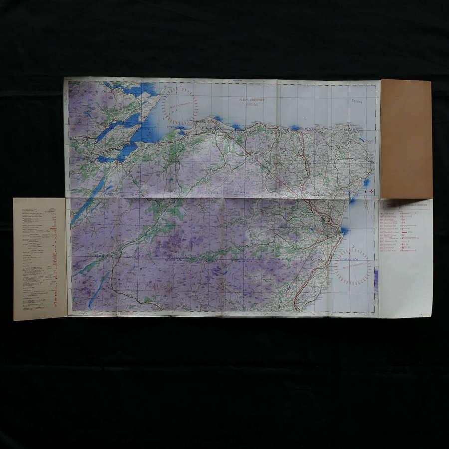 RAF flight map, Scotland, The Eastern Highlands