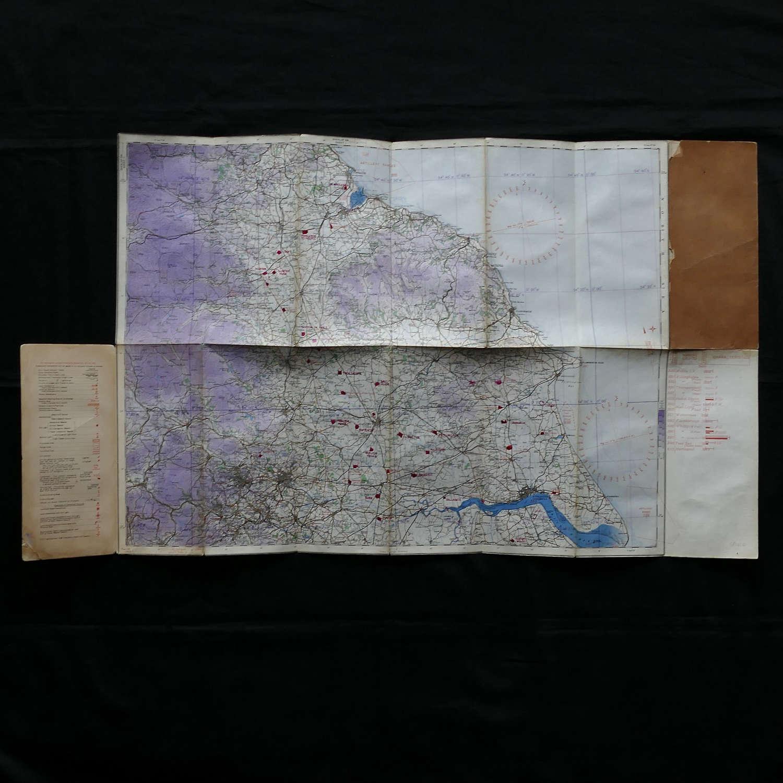 RAF flight map, England North East