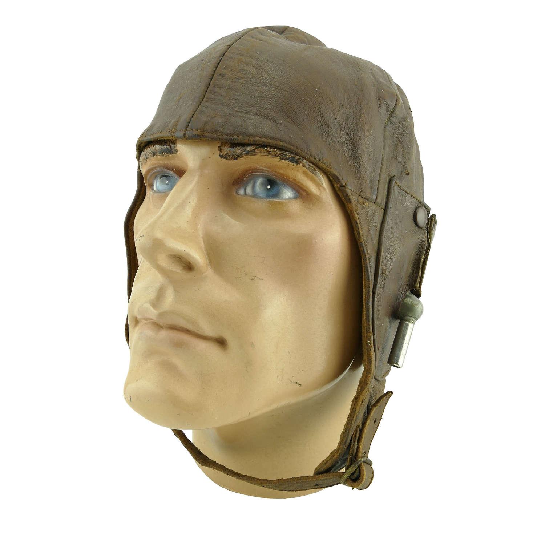 Interwar flying helmet worn by CAG pilot