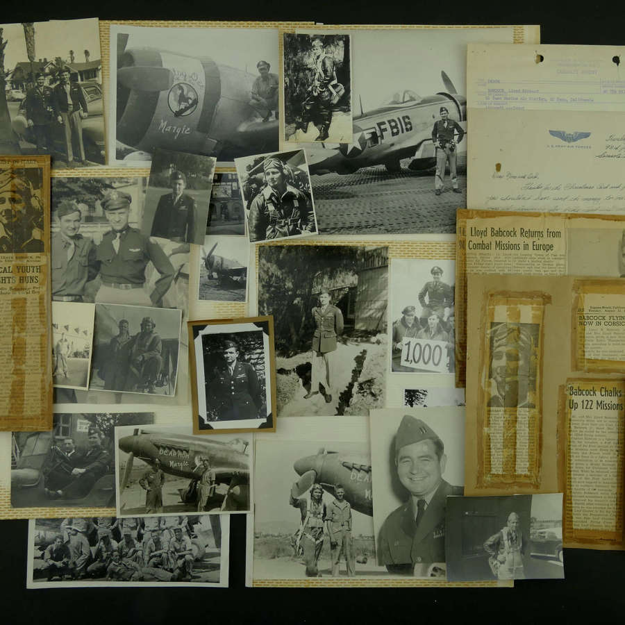 USAAF 12th AAF fighter pilot's photos/paperwork