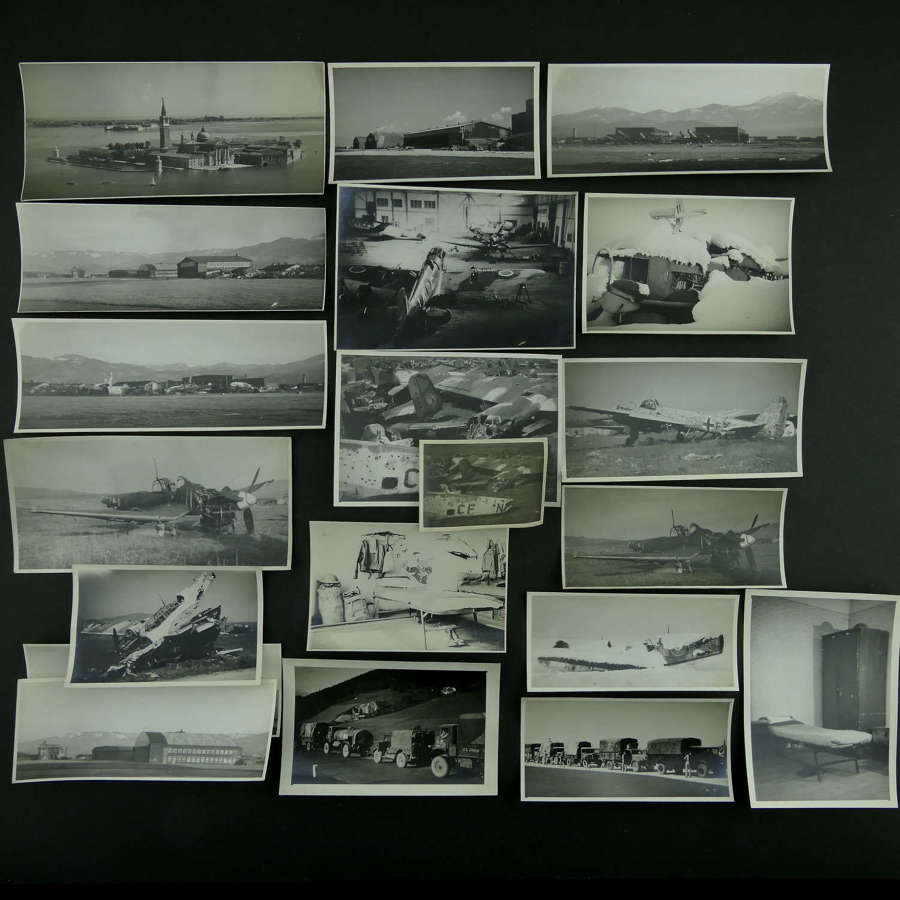 Photographs of damaged aircraft, Italy