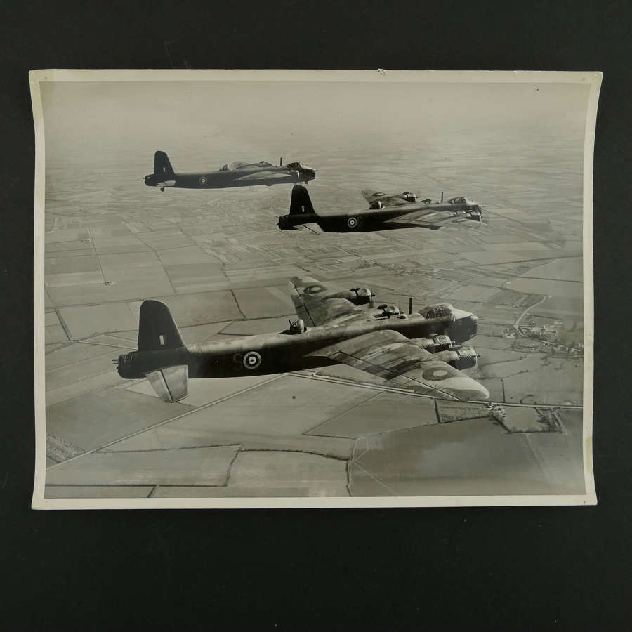 Press photograph - RAF Stirling bombers