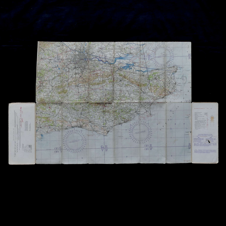 RAF Flight map, England, S.E. & London