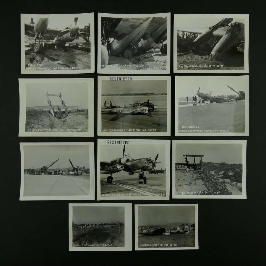 USAAF P-38 crash photos c.1945