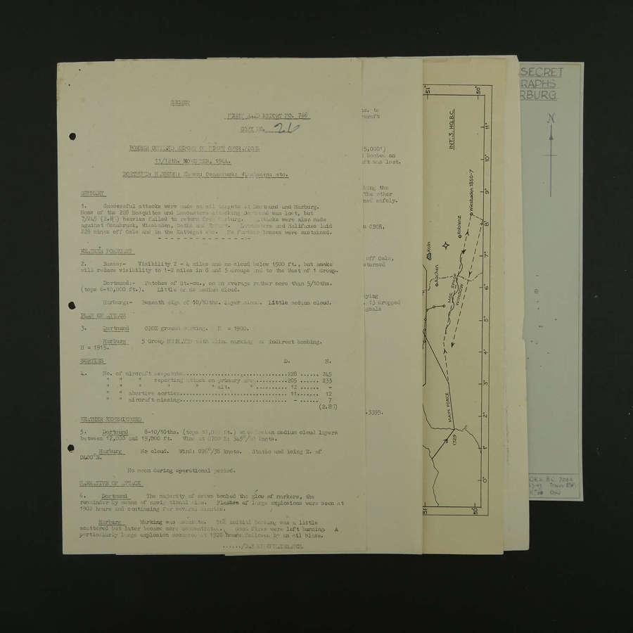 RAF Bomber Command raid report - Dortmund / Harburg