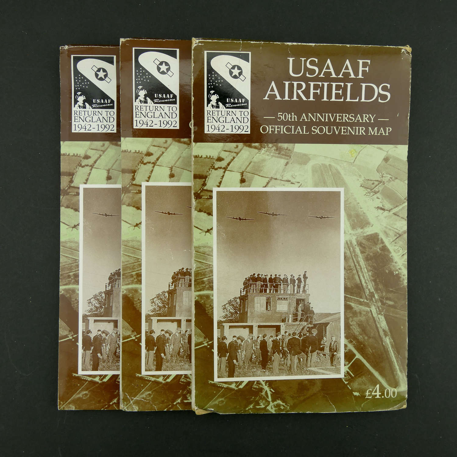 USAAF Airfields map - 50th anniversary