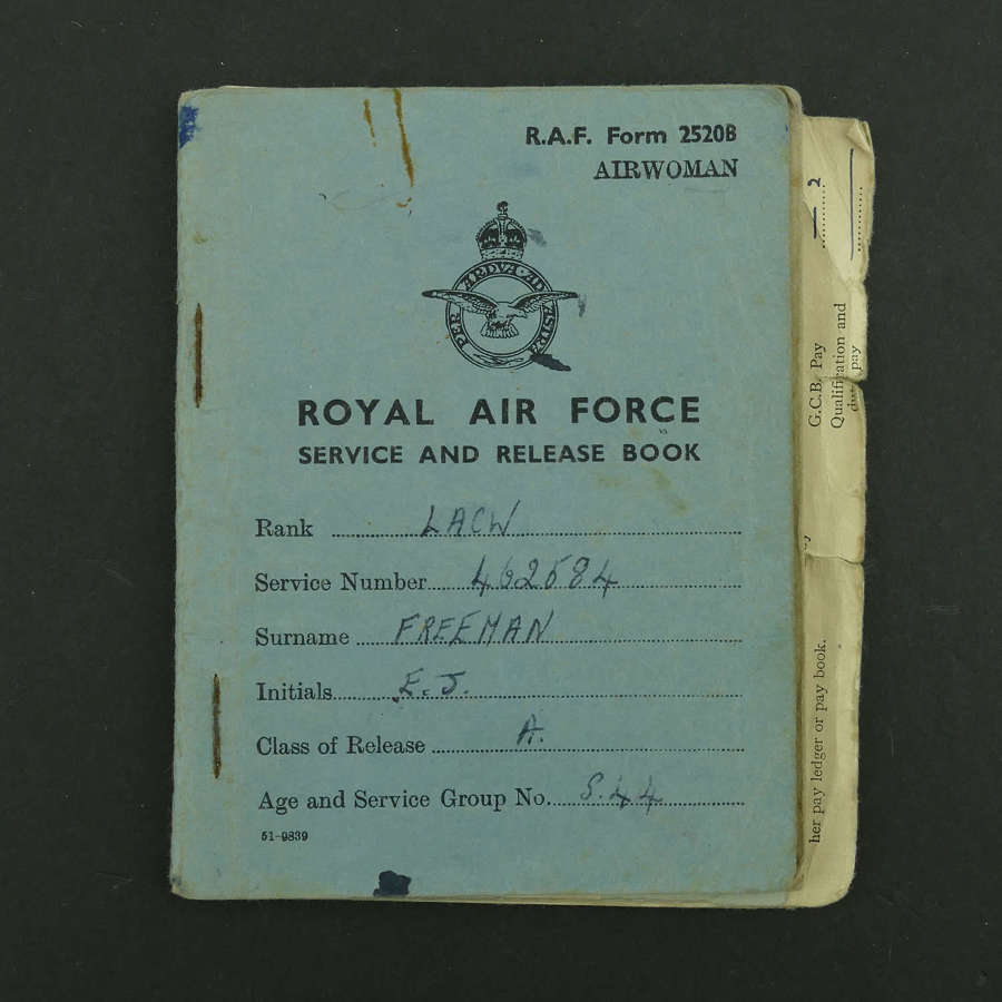 WAAF service and release book, LACW Freeman