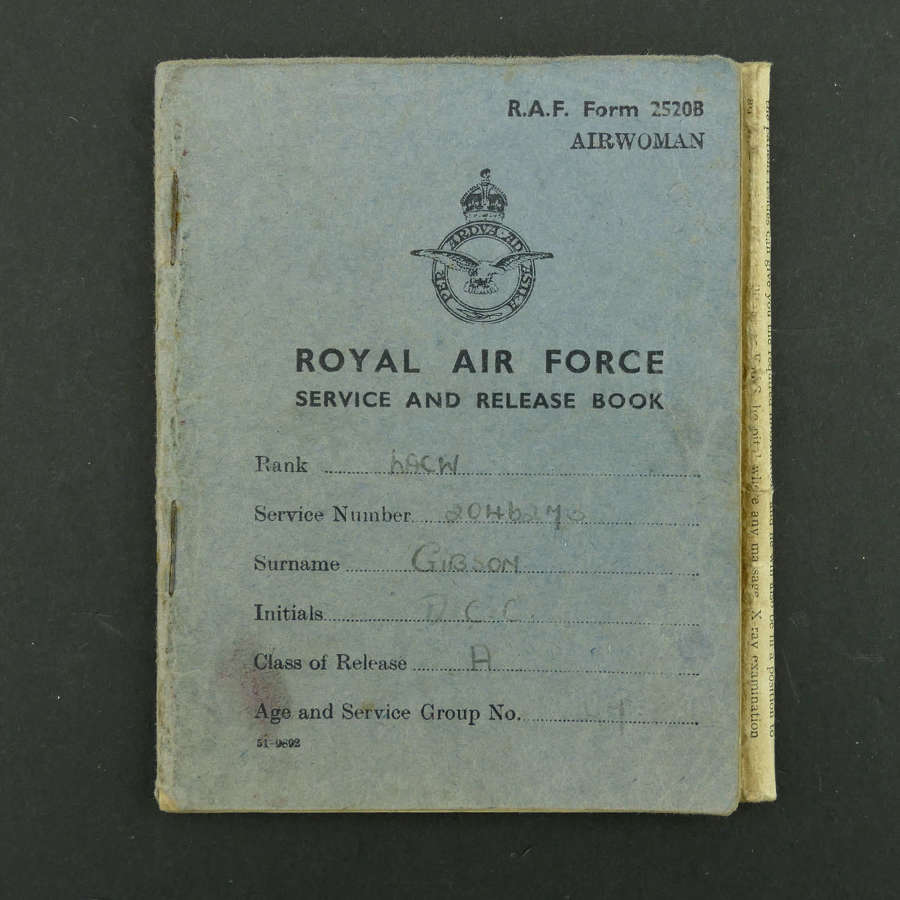 WAAF service & release book, LACW Gibson