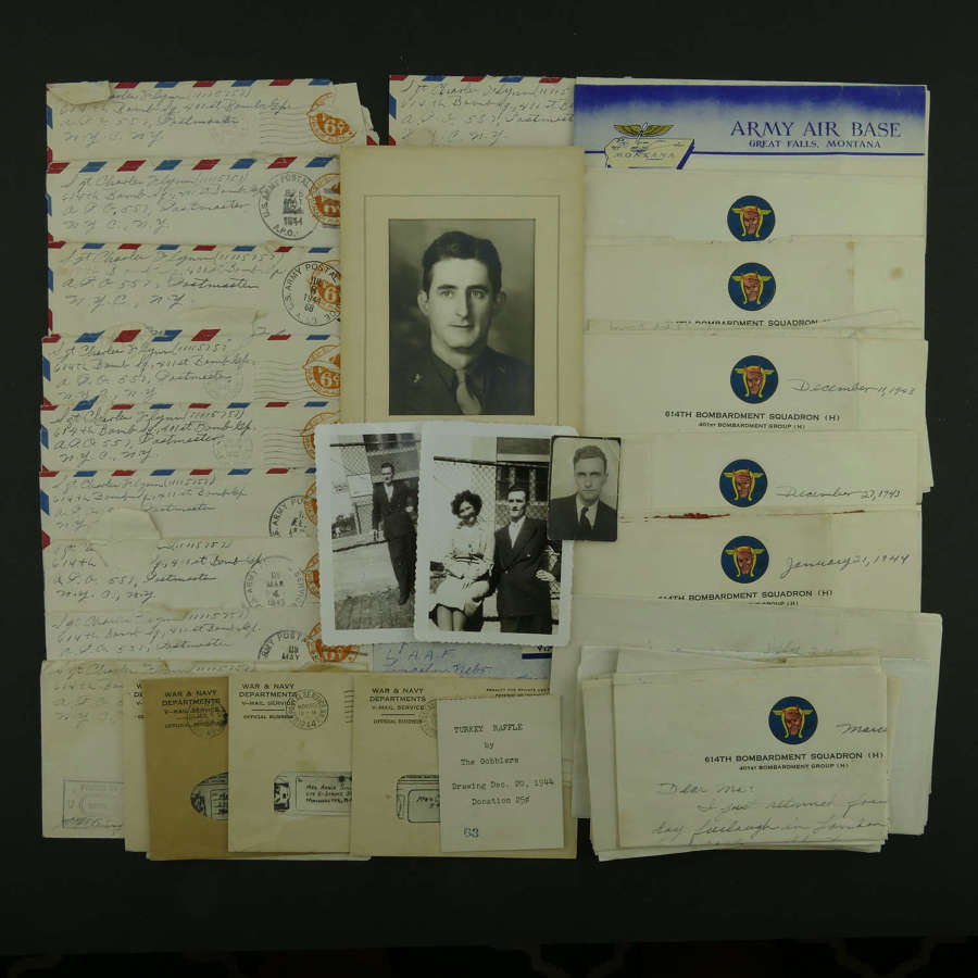 USAAF 8th AAF 401st Bomb Group letters / V-mails