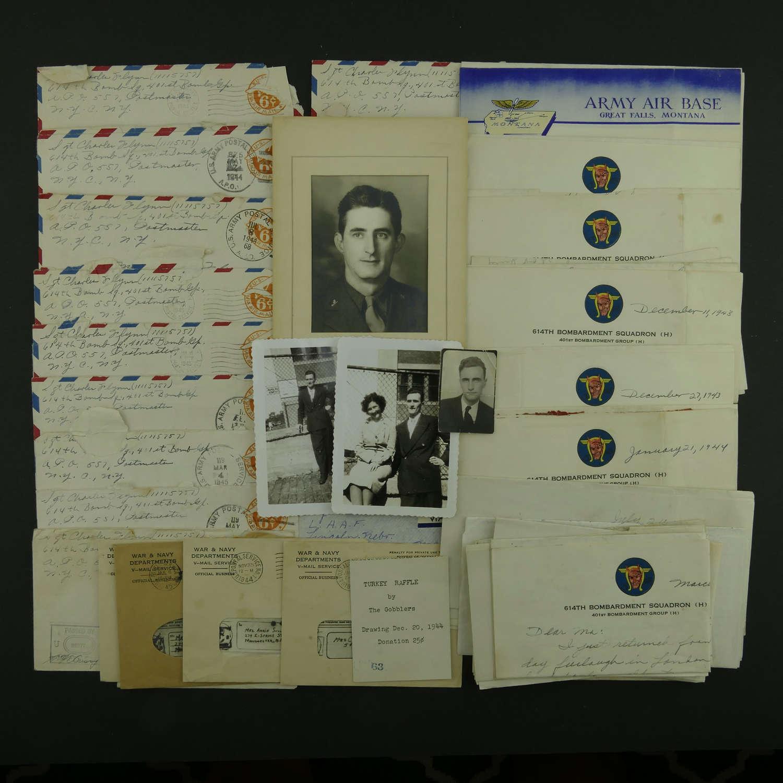 USAAF 8th AAF 401st Bomb Group letters / V-mails