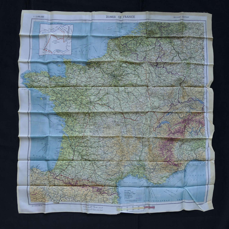 RAF / SOE escape & evasion map - Zone of France